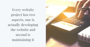 cost to develop and maintain a WordPress website