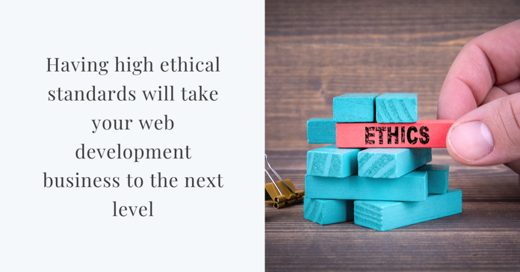 ethics of web development business