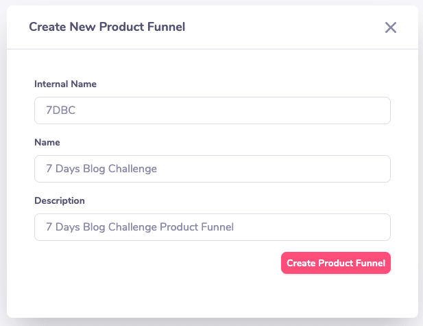 create new funnel