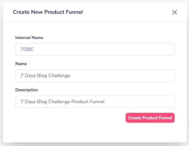 create new funnel