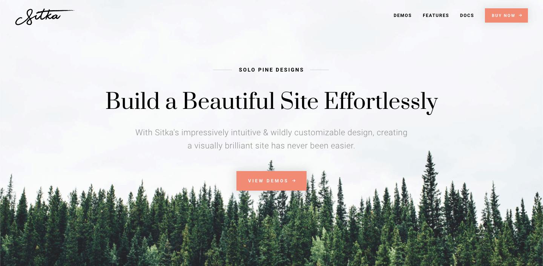 sitka wordpress theme