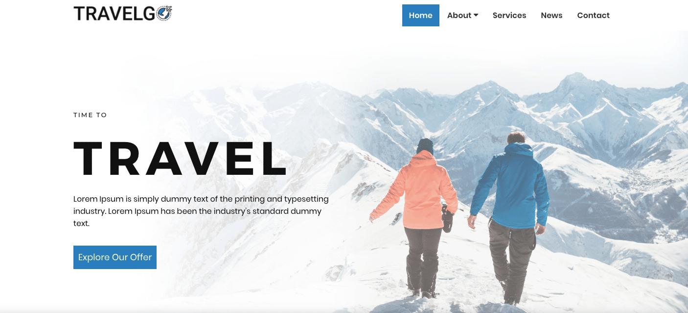 travelgo wordpress theme