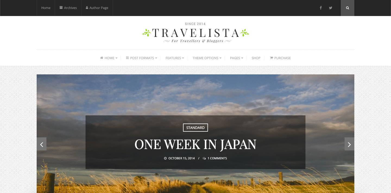 travelista wordpress theme