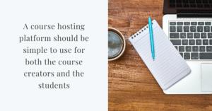 course hosting platforms