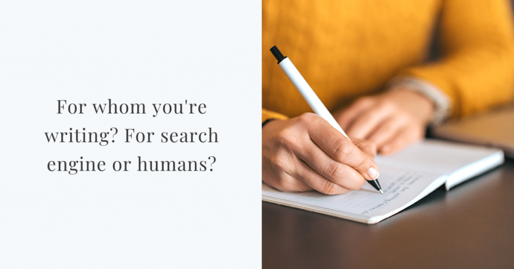 are you writing for humans or search engines?
