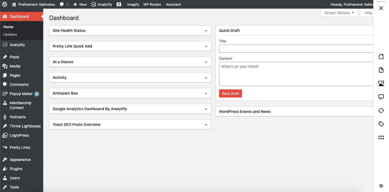 assistant menu