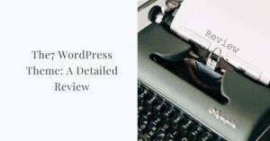 The7 WordPress theme review image