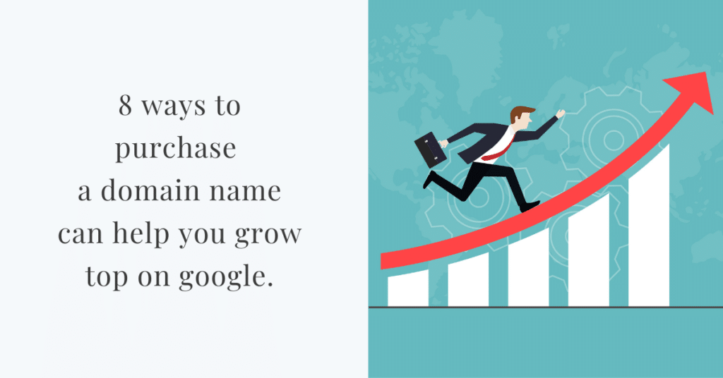 8 ways to purchase a domain name can help you grow top on google.